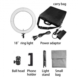 vl-led-448 led ring light with accessories kit